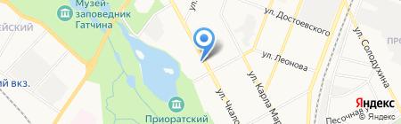 Приорат на карте Гатчины