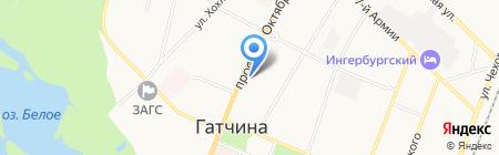 Магазин мультимедийной продукции на проспекте 25 Октября на карте Гатчины