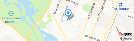 Михайловское на карте Гатчины