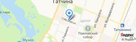 Обувной магазин на Соборной на карте Гатчины