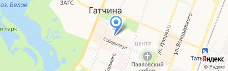 Гатчинское Бюро Путешествий и Экскурсий на карте Гатчины