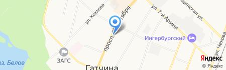 Почтовое отделение №188300 на карте Гатчины
