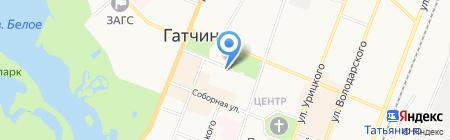 Центр гигиены и эпидемиологии в Ленинградской области на карте Гатчины