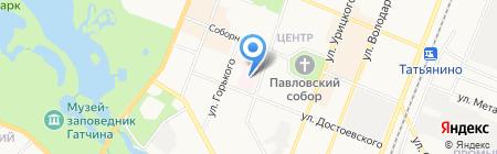 Узловая железнодорожная поликлиника на ст. Гатчина на карте Гатчины