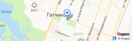Стоматологическая поликлиника №1 на карте Гатчины