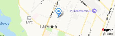 Детский сад №5 на карте Гатчины