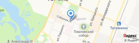 Магазин обуви и кожгалантереи на Соборной на карте Гатчины