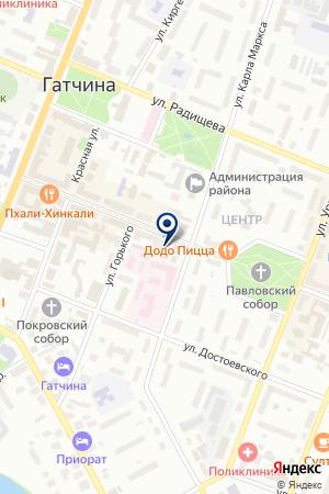МАГАЗИН КНИЖНЫЙ МИР на карте Гатчины