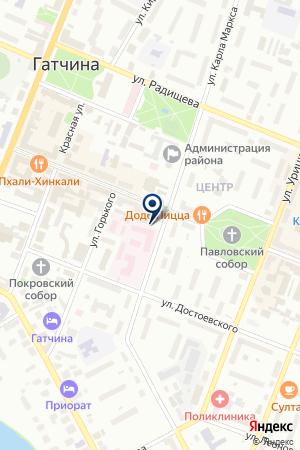 БАНКОМАТ МОСКОМПРИВАТБАНК на карте Гатчины