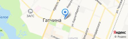 Детский сад №12 на карте Гатчины