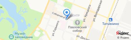 Гатчина Домашняя на карте Гатчины