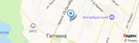 Отдел Военного комиссариата Ленинградской области по г. Гатчина и Гатчинскому району на карте Гатчины