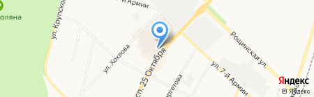 Автостоянка на проспекте 25 Октября на карте Гатчины