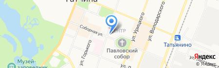 Магазин подарков на ул. Соборная на карте Гатчины