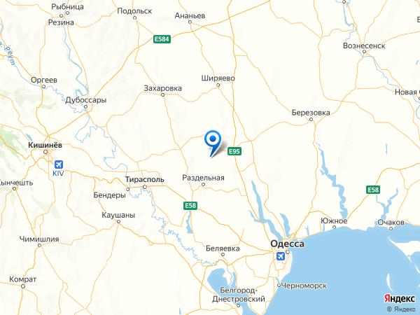 село Даниловка на карте