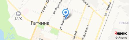 Петростат на карте Гатчины