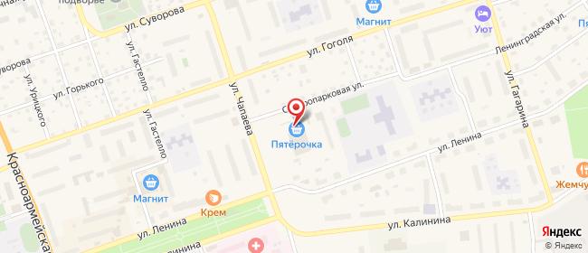 Карта расположения пункта доставки Приозерск Северопарковая в городе Приозерск