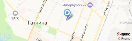 Управление Федеральной службы государственной регистрации на карте Гатчины