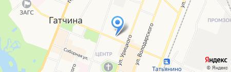 Геометрика на карте Гатчины