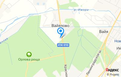 Местоположение на карте пункта техосмотра по адресу Ленинградская обл, Гатчинский р-н, д Вайялово, ш Красносельское, д 7