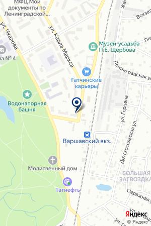 АПТЕЧНЫЙ ПУНКТ МЕДИ ПЛЮС на карте Гатчины