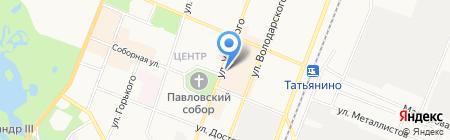 Магазин окон и дверей на ул. Урицкого на карте Гатчины