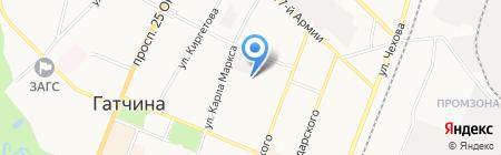Планета ДЕТСТВА на карте Гатчины