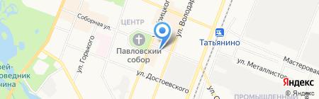 Киоск по продаже фруктов и овощей на карте Гатчины