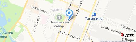 Магазин мяса на Соборной на карте Гатчины