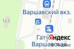 Схема проезда до компании Вещи от 50 в Гатчине