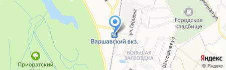 Варшавский вокзал на карте Гатчины