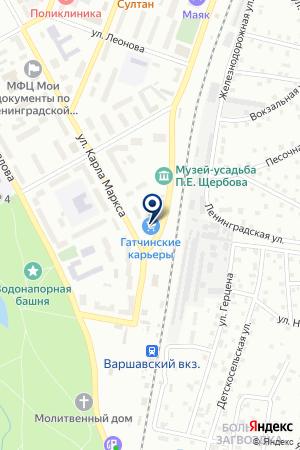 ЛЕНОБЛСТРОЙ на карте Гатчины