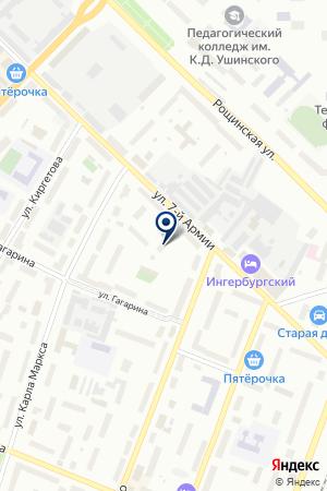 СПОРТИВНЫЙ ЗАЛ на карте Гатчины