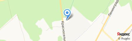 АСТА на карте Гатчины