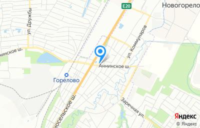Местоположение на карте пункта техосмотра по адресу г Санкт-Петербург, тер Горелово, ш Аннинское