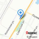 Строительный Дворик на карте Санкт-Петербурга