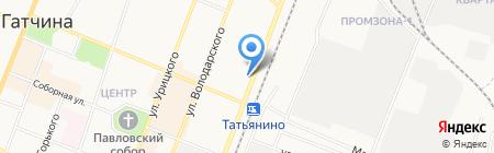 Леко на карте Гатчины