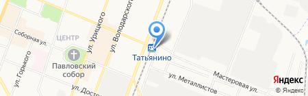 Татьянино на карте Гатчины