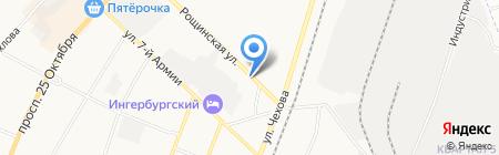 Автостоянка на ул. 7 Армии на карте Гатчины