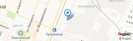 Автостоянка на Железнодорожной (Гатчинский район) на карте Гатчины