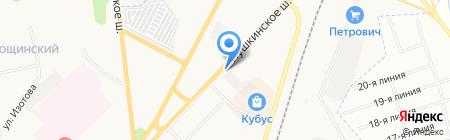 ДАФ на карте Гатчины