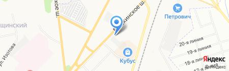 Шиномонтажная мастерская на Пушкинском шоссе (Гатчинский район) на карте Гатчины