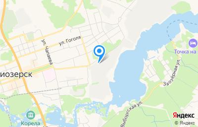 Местоположение на карте пункта техосмотра по адресу Ленинградская обл, г Приозерск, ул Калинина, д 51