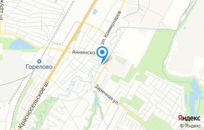 Местоположение на карте пункта техосмотра по адресу г Санкт-Петербург, тер Горелово, ул Заречная, д 9