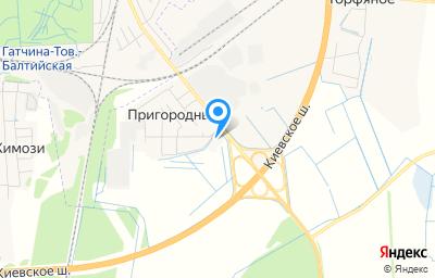 Местоположение на карте пункта техосмотра по адресу Ленинградская обл, Гатчинский р-н, п Пригородный, ул Зеленая, д 1 к а