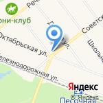 Муниципальное образование пос. Песочный на карте Санкт-Петербурга