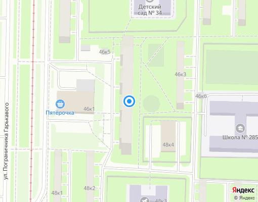 Товарищество собственников жилья «ТСЖ № 335» на карте Санкт-Петербурга