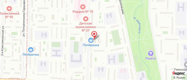 Карта расположения пункта доставки Пункт выдачи в городе Санкт-Петербург