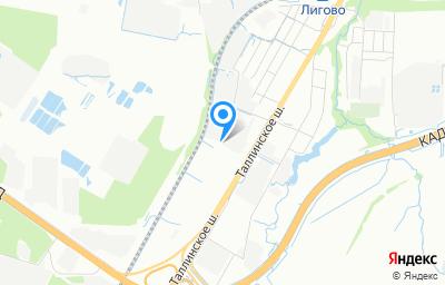 Местоположение на карте пункта техосмотра по адресу г Санкт-Петербург, тер Старо-Паново, ш Таллинское, д 153 к 2 литер д