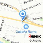Фабрика цветов на карте Санкт-Петербурга